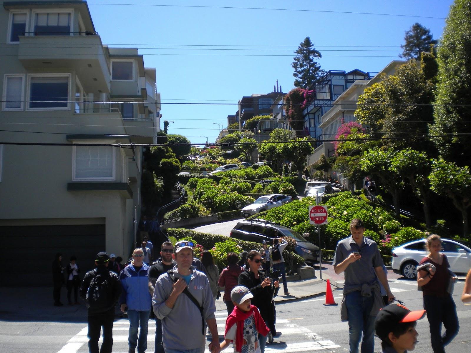 san francisco kalifornia lombard street neulansilmä mutka katu serpentiinikatu mallaspulla matkailu