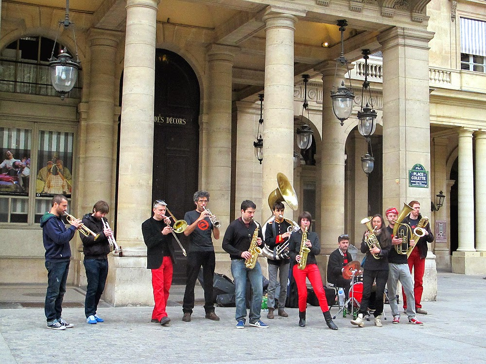 Brass band in the Place Colette in Paris