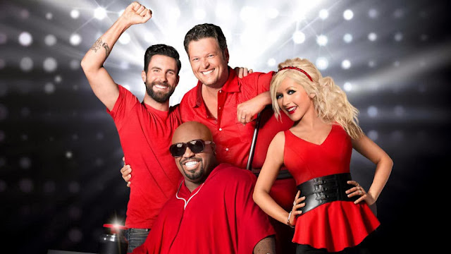 Christina Aguilera and Cee Lo Green back with Adam Levine and Blake Shelton for The Voice Season 5.