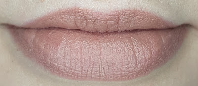 Avon True Colour Delicate Matte Lipstick lip swatch in Cashmere Taupe