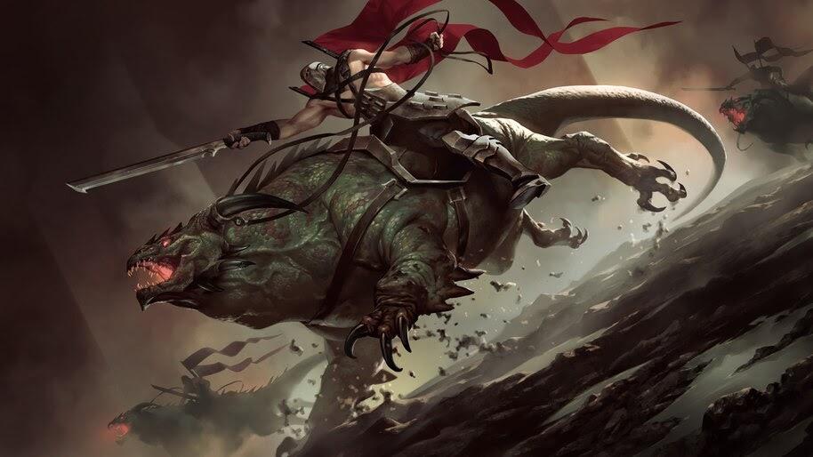 Legends of Runeterra, Basilisk Rider, 4K, #4.1494