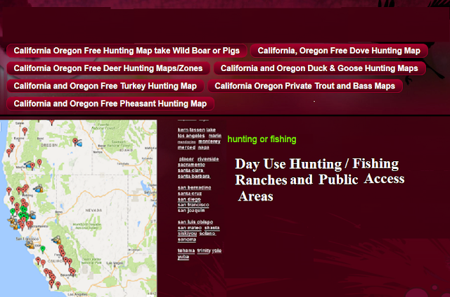 hunting and fishing clubs california and oregon, where to hunt california, hunting and fishing public lands oregon and california