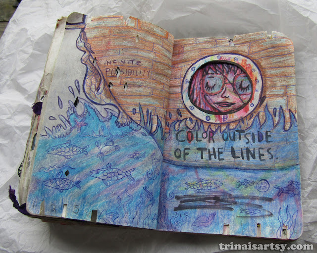 Wreck this Journal - Color outside of the lines