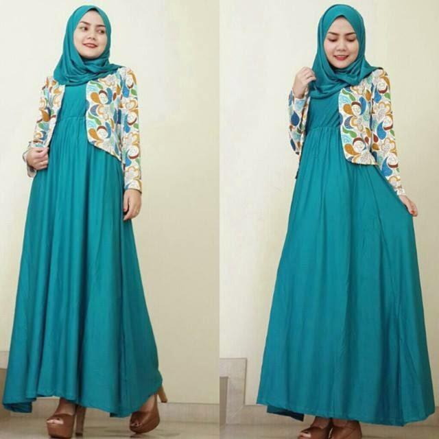 Model Gaya Baju Gamis Batik Untuk Orang Gemuk Jumbo