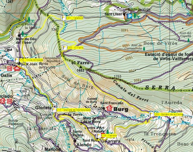 Mapa cursa popular