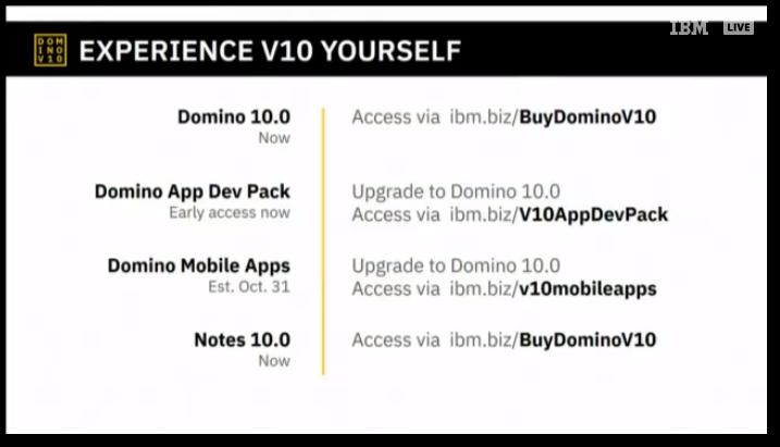Msbiro Net Ibm Domino V10 And Notes V10 Announced Welcome Back