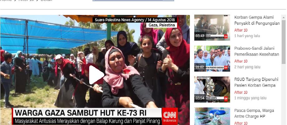 Mengharukan: Masyrakat Gaza (Palestina) Ikut Merayakan HUT RI Ke-73