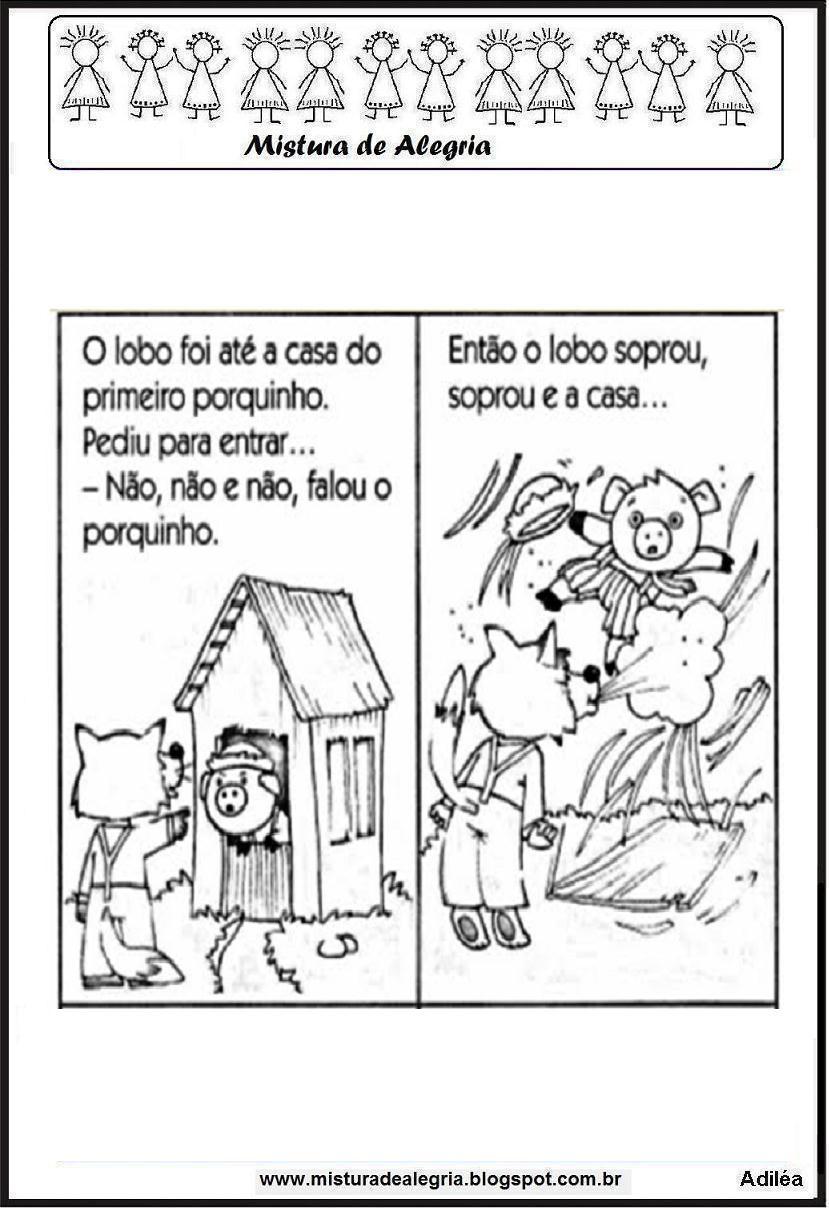 Aprendendo Com A Tia Debora Historia Dos Tres Porquinhos Livro