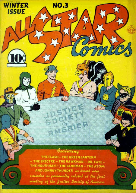 All Star Comics v1 #3, 1940 DC golden age comic book cover - 1st Justice Society of America