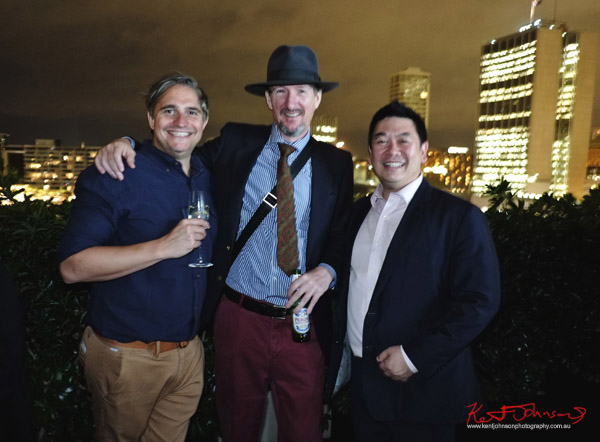 Will Stewart, Kent Johnson & Dion Woo at the MCA for Connect Italy 2017, Sydney, Australia. Street Fashion Sydney by Kent Johnson.