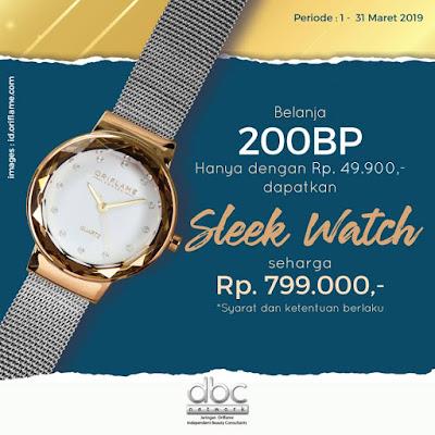 Promo Oriflame Maret 2019 - Dapatkan Sleek Watch Seharga Rp49,900
