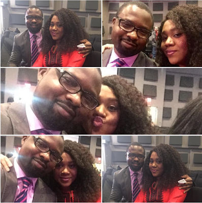 Nigeria Nollywood actress Stella Damasus and Daniel Ademinokan proclaim their affection for one another