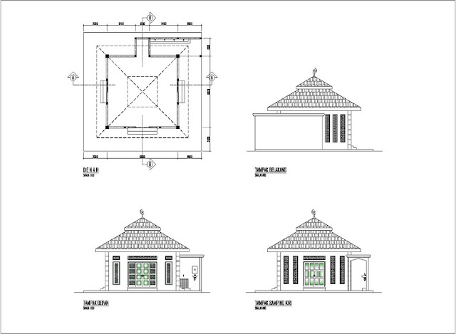 desain masjid minimalis modern terbaru