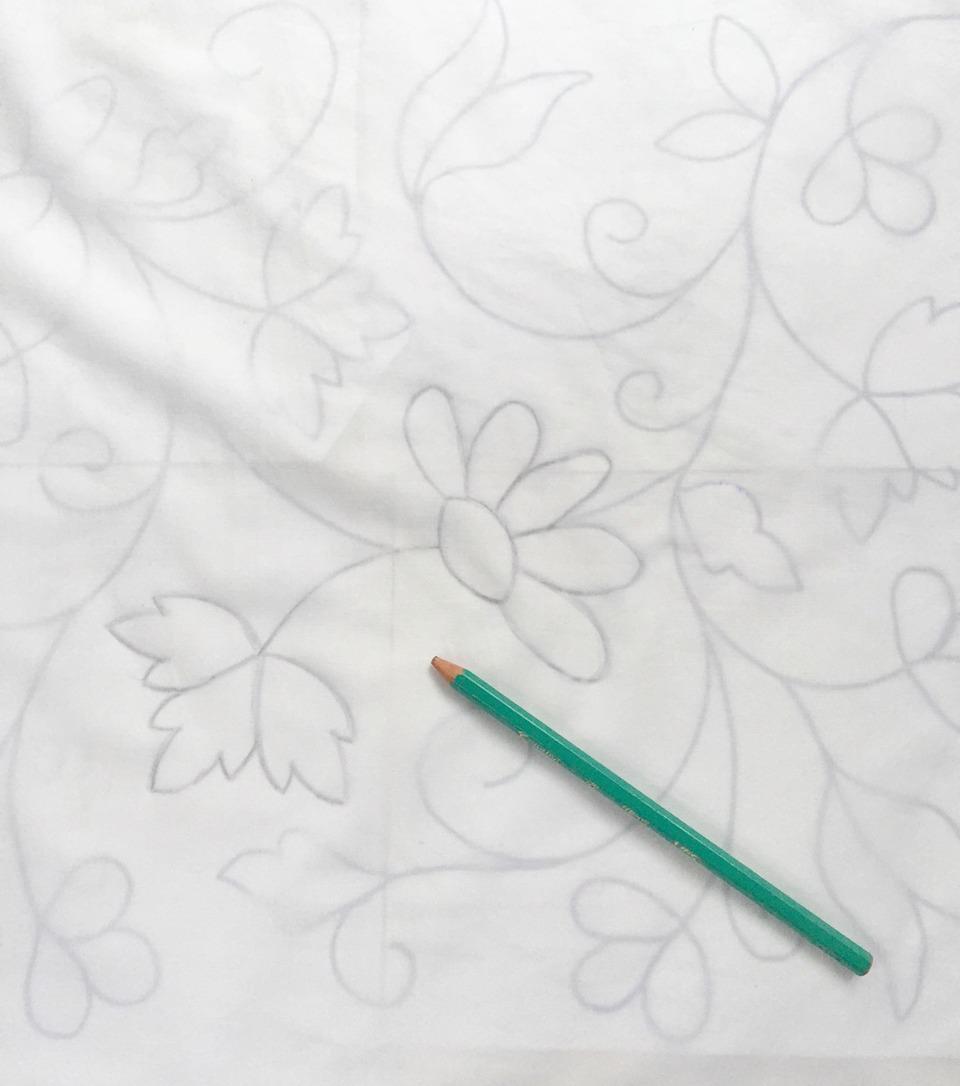 Mamy a la obra: Como transferir un patron XL (+ almohadon Bordado)