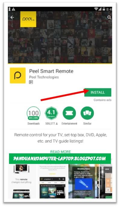 cara instal peel smart remote di hp android