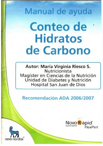 Nutricomparte: Manual de Ayuda de conteo de hidratos de