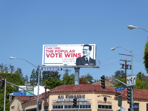 Late Show Stephen Colbert 2017 Emmy billboard