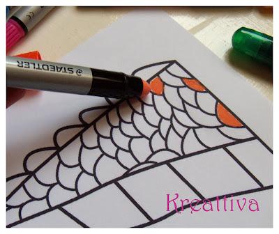 Colorare i dettagli con i pastelli a gel
