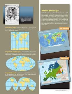 Apoyo Primaria Atlas de Geografía del Mundo 5to. Grado Capítulo 1 Lección 3 Diferentes Tipos de Mapas