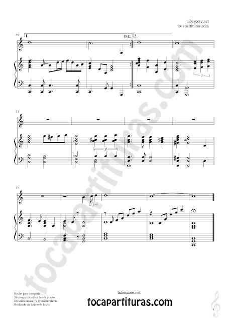 3  Partitura Jpg de Piano de la composición A mi manera canción Easy Sheet Music My way for pianists