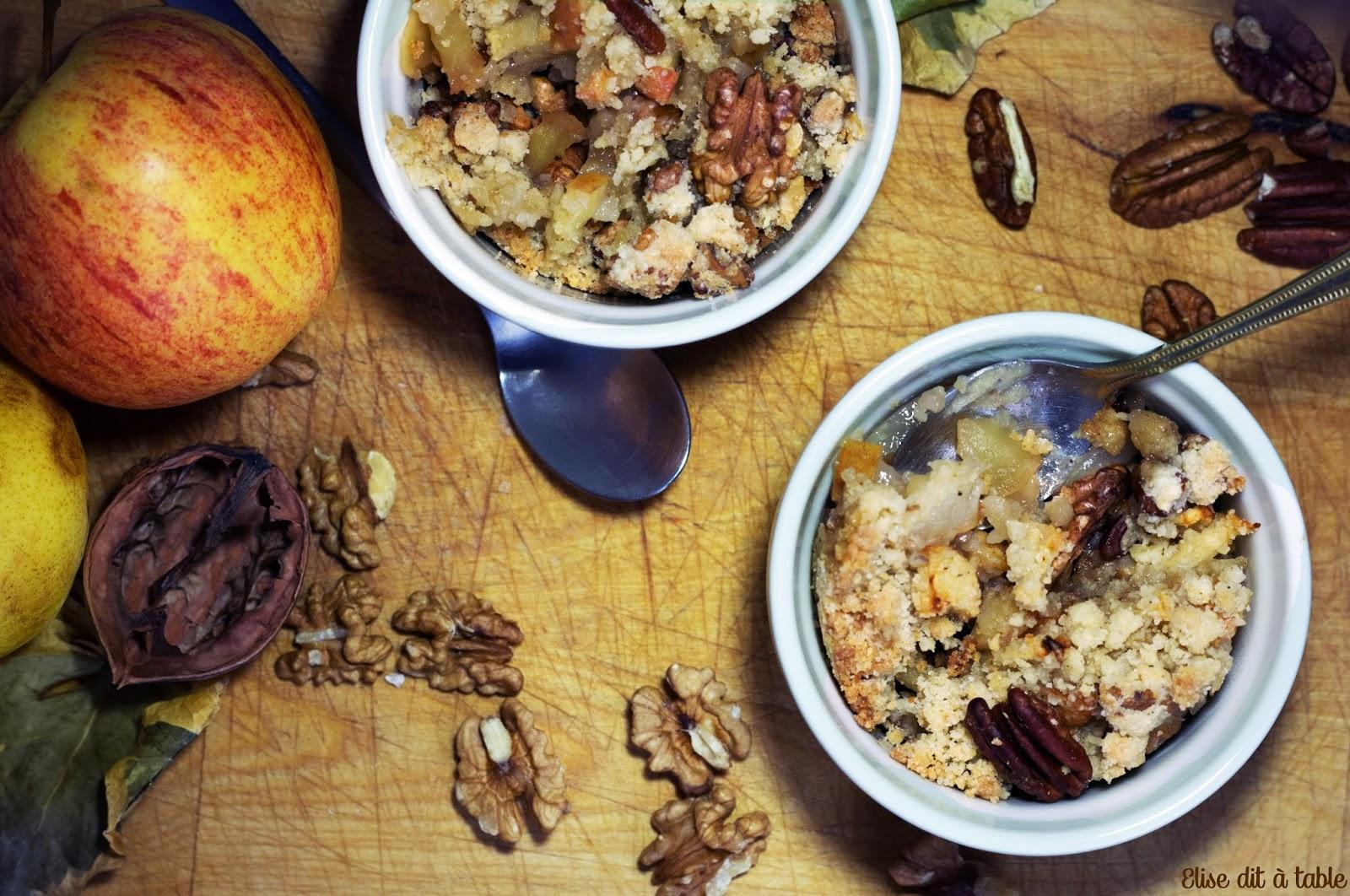recette Crumble d'automne