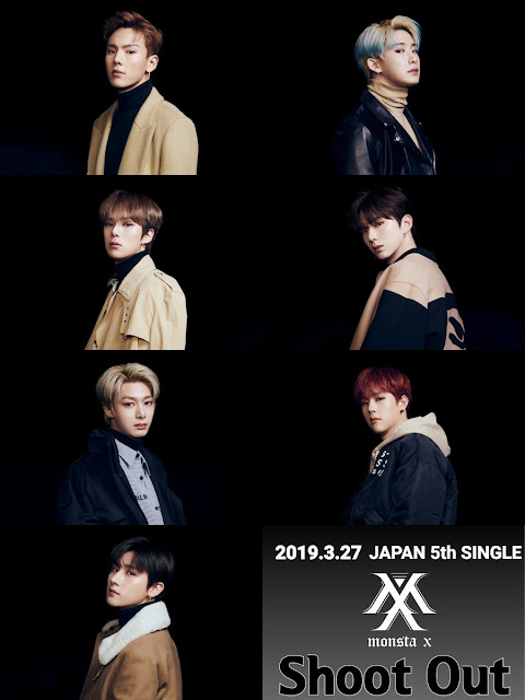monsta x japon comeback single shoot out