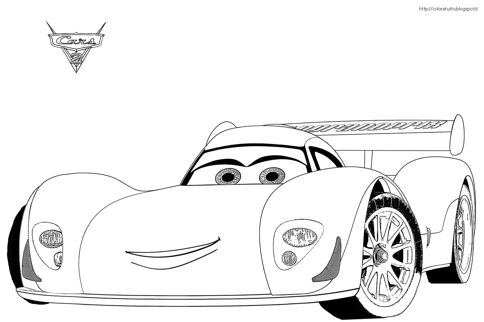 10 Cars 2 Coloring Pages Francesco Top Free Printable Coloring