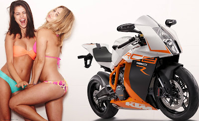 2016 KTM 1190 RC8R  with model hd pose