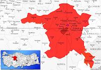 Yenimahalle ilçesinin nerede olduğunu gösteren harita