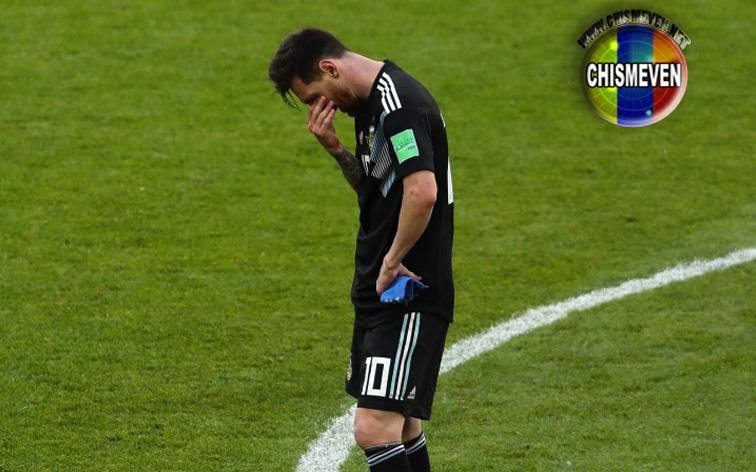 Lionel Messi presenta cuadro depresivo tras fallar penal contra Islandia