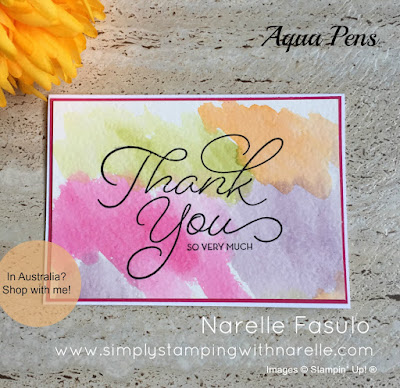 Watercolouring using Aqua Painters - Simply Stamping with Narelle - shop here - https://www3.stampinup.com/ecweb/default.aspx?dbwsdemoid=4008228