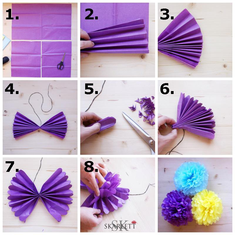 Bodas cucas diy pompones de papel para decorar tu boda - Papel para decorar ...