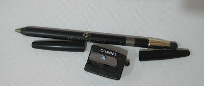 Chanel silver khaki
