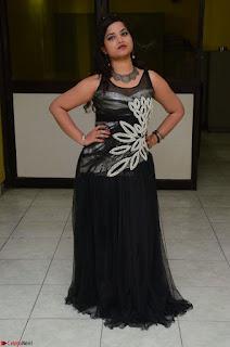 Shrisha Dasari in Sleeveless Short Black Dress At Follow Follow U Audio Launch 023.JPG