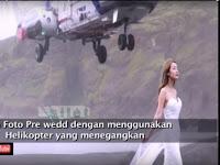 Berita Terkini: (Video) Mengerikan. Calon pengantin wanita ini nyaris disambar helikopter