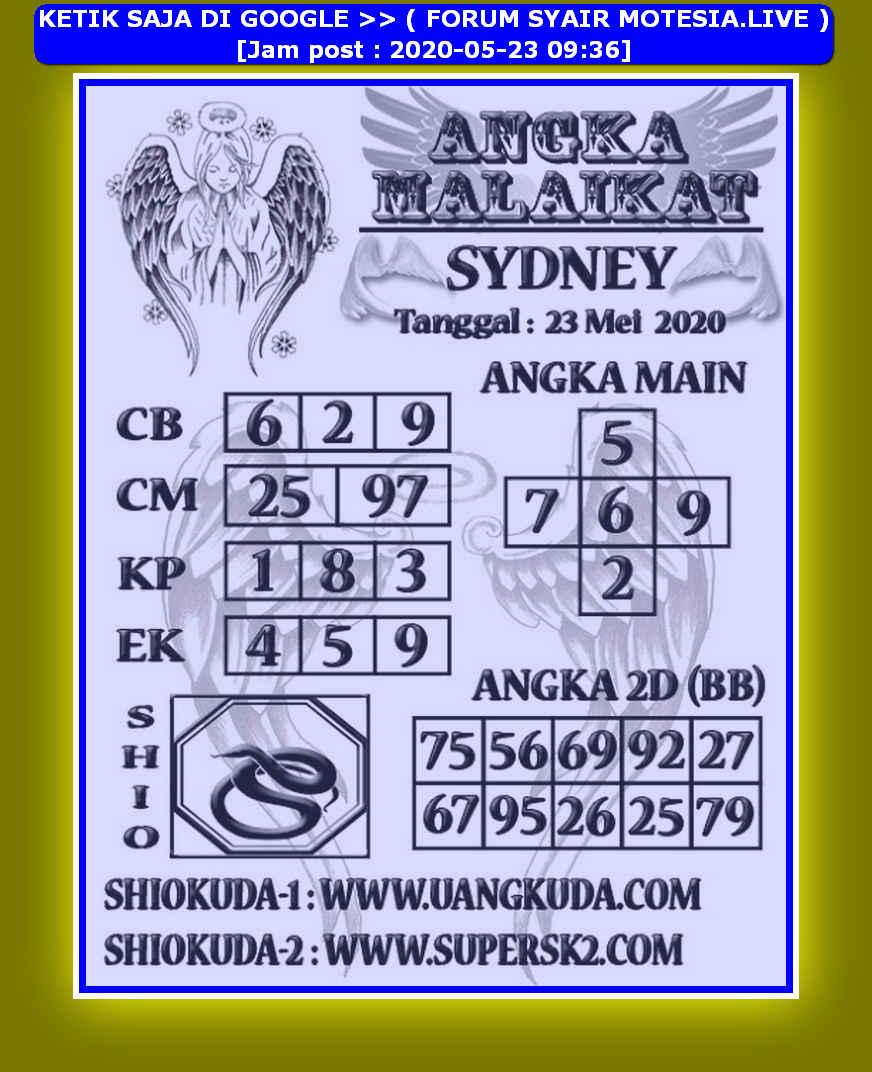 Kode syair Sydney Sabtu 23 Mei 2020 215