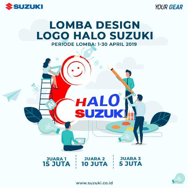 Lomba Design Logo Halo Suzuki 2019