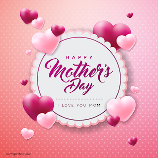 happy mothers day greetings i love you mom love hearts