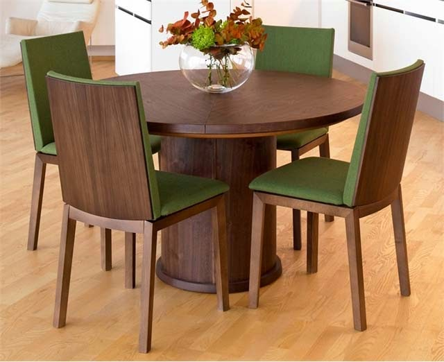 Modern Expandable Round Dining Table picture