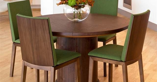 Modern Round Dining Table Modern Expandable Round Dining Table - Ayanahouse