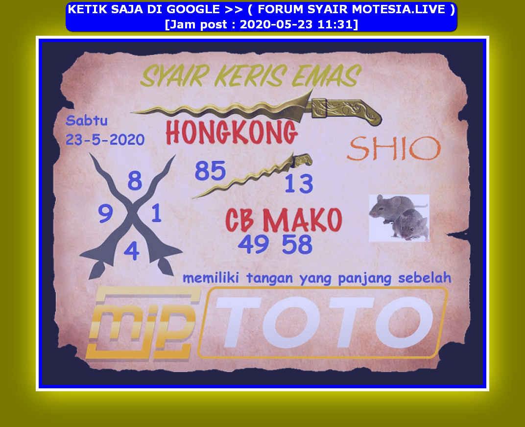Kode syair Hongkong Sabtu 23 Mei 2020 209
