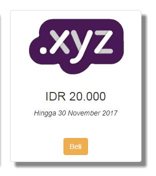 Promo Domain .Xyz Murah Cuma 20 Ribu di Qwords