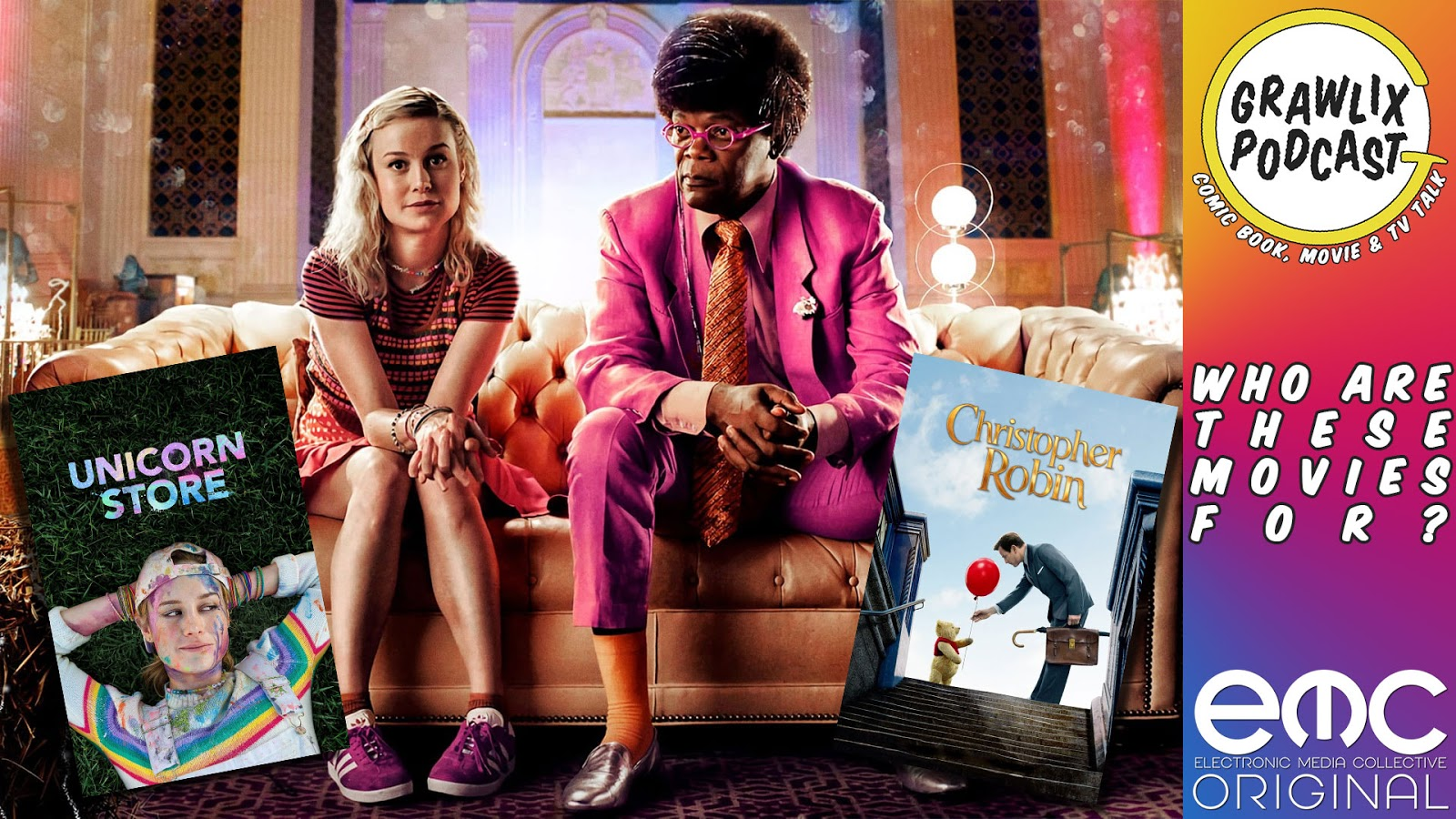 The Grawlix Podcast - Unicorn Store and Christopher Robin Reviews