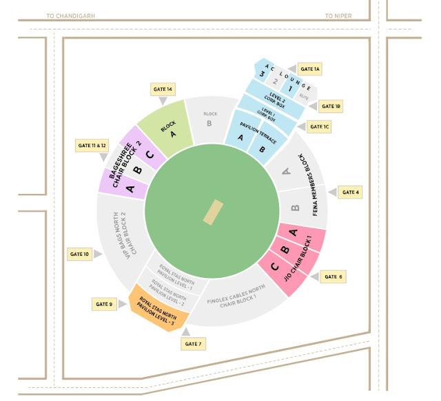 VIVO IPL 2019 Ticket IS Bindra Stadium, Mohali