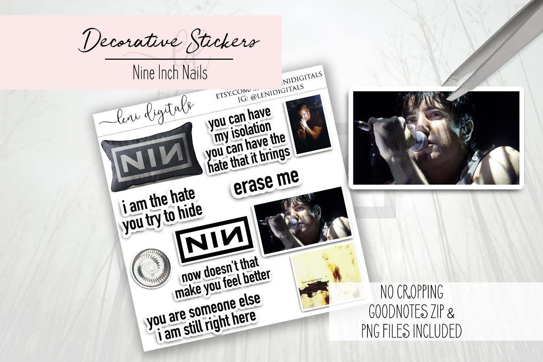 free digital planner downloads nine inch nails NIN