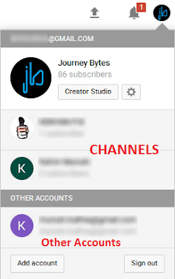 switch to channel or account