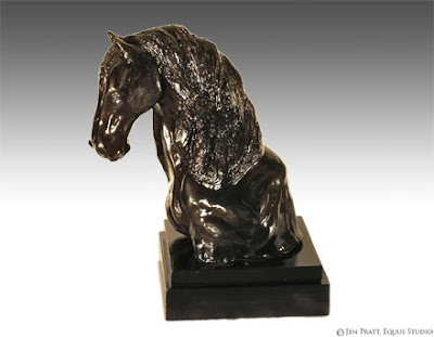 hand made horse, horse sculptures, clay art
