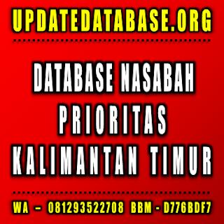 Jual Database Nasabah Prioritas Kalimantan Timur
