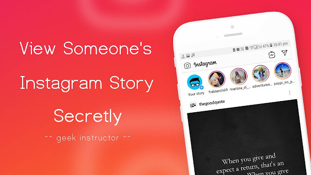 View someone's Instagram story secretly