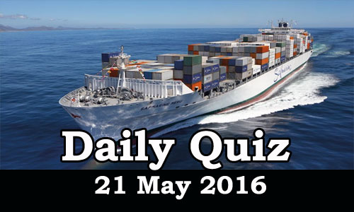 Daily Current Affairs Quiz - 21 May 2016